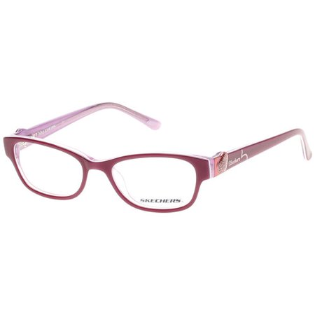 skechers girls eyeglass frames pink