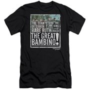 Sandlot The Great Bambino Mens Slim Fit Shirt