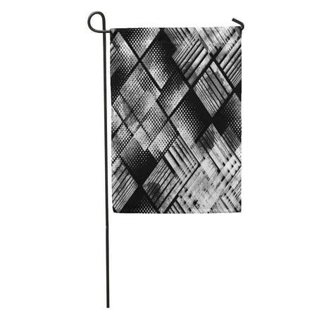 KDAGR Retro Urban Geometric Camouflage Camo Watercolor Effect Monochrome Swatch Dotted Garden Flag Decorative Flag House Banner 28x40