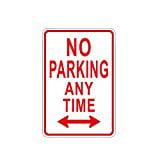 ALEKO Aluminum No Parking Any Time Sign Aluminum Parking Sign