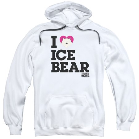 We Bare Bears - Heart Ice Bear - Pull-Over Hoodie - X-Large