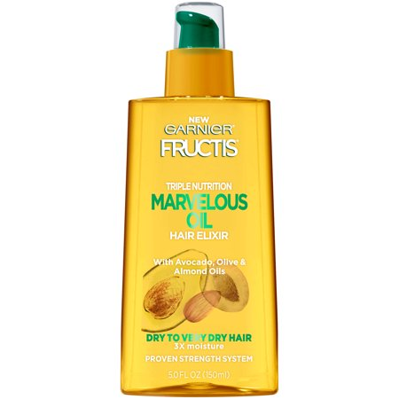 Garnier Fructis Triple Nutrition Marvelous Oil Hair Elixir, Dry to Very Dry Hair, 5 fl.