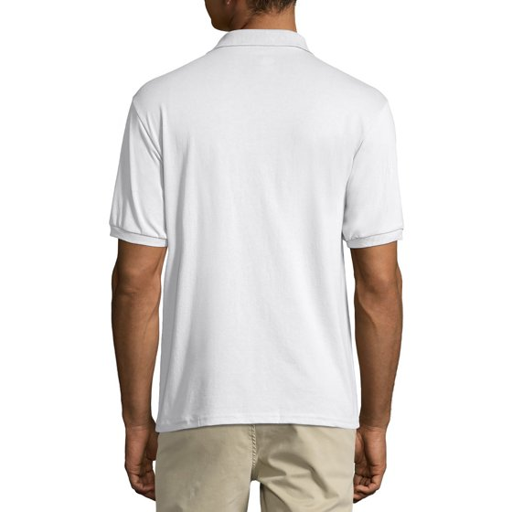 8e25f8db435 Hanes - Men's Comfortblend EcoSmart Jersey Polo with Pocket - Walmart.com