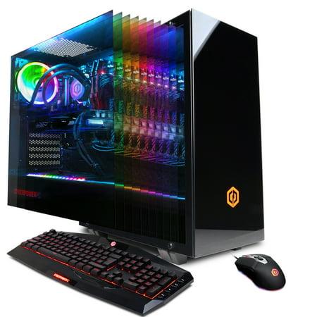 CYBERPOWERPC Gamer Xtreme Liquid Cool Desktop, Core i7-9700KF 3.6GHz, NVIDIA GeForce GTX 1650 4GB, 512GB PCI-E NVMe SSD, 1TB HDD, 16GB DDR4,