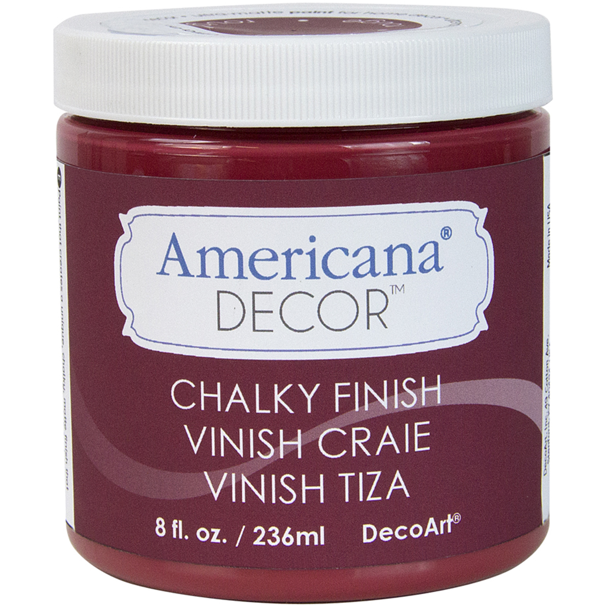 Deco Art Americana Chalky Finish Paint, 8-Ounce, Rouge Multi-Colored