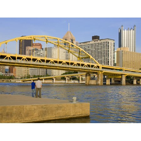 Fort Duquesne Bridge over the Allegheny River, Pittsburgh, Pennsylvania, United States of America, Print Wall Art By Richard (Longest Bridge In The United States Over Water)