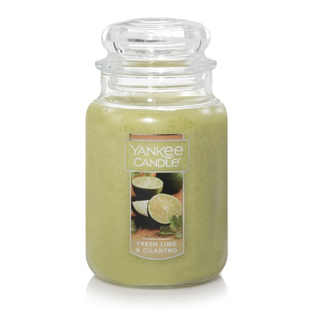 Yankee Candle Fresh Lime & Cilantro - Large Jar Candle