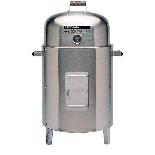 Brinkmann 810-5304-4 Smoke N Grill Stainless Steel Electric Smoker- Stainless