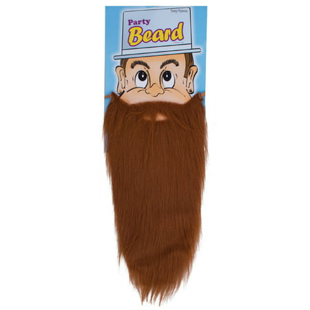 Funny Fashion Halloween Costume Party Long Beard, Brown, One-Size - Funny Halloween Ecard