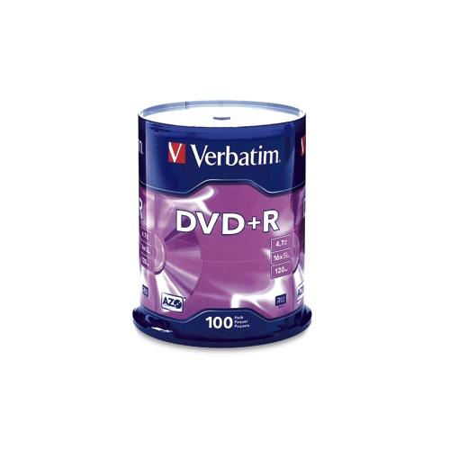 Verbatim 95098 AZO 100 Pack 16X DVD+R Spindle