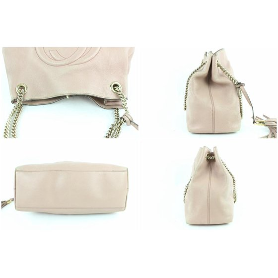 4479dba292758d Gucci - PRE-OWNED Soho Fringe Tassel Lilac/Pink Chain Tote 7gz0114 Pale  Light Lilac Leather Shoulder Bag - Walmart.com