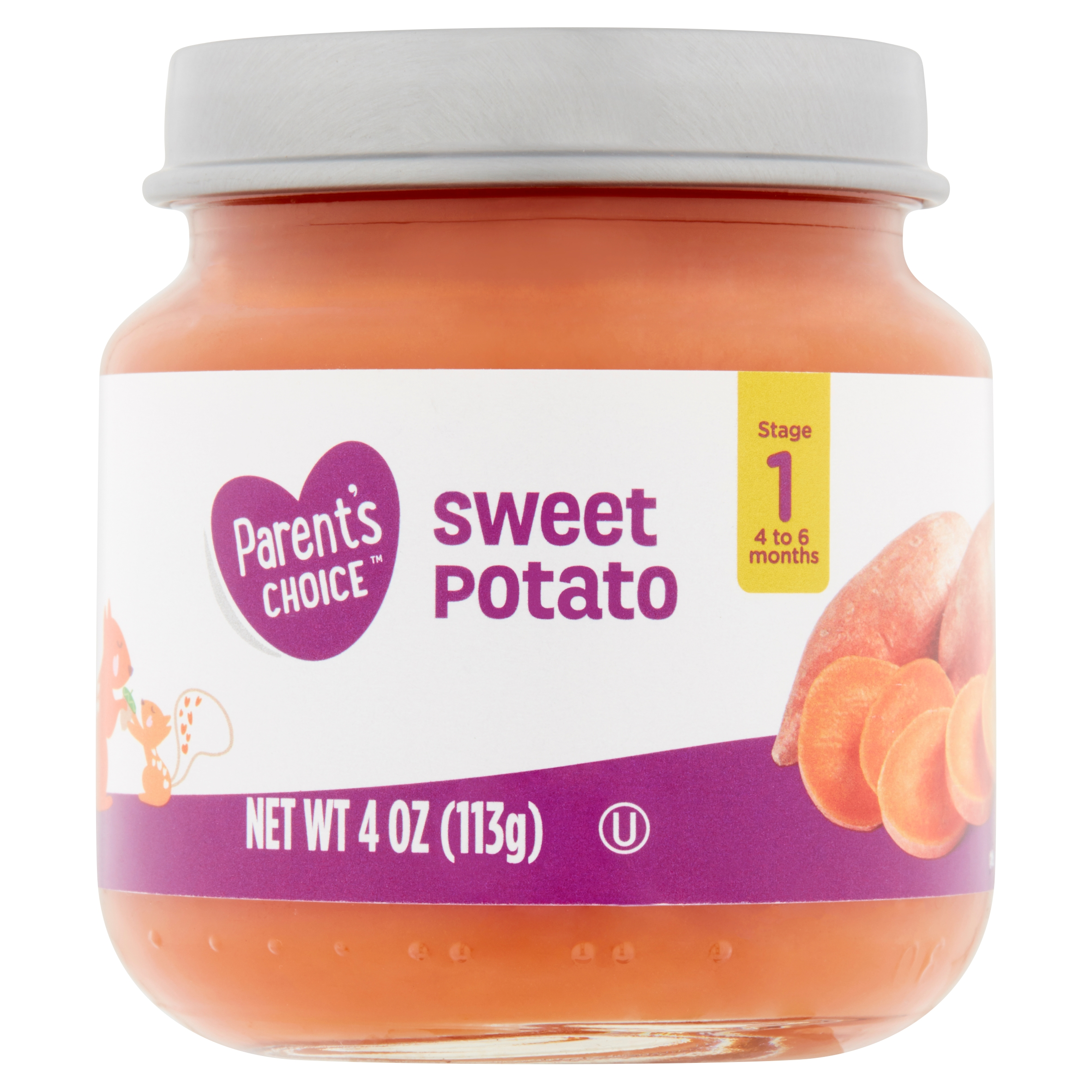 Parent's Choice Baby Food, Sweet Potato, Stage 1, 4 oz