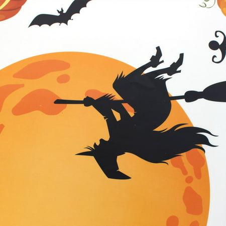 Citrouille Halloween sorcière Lune Chauve-Souris PVC Design Mural Papier Peint DIY - image 1 de 3