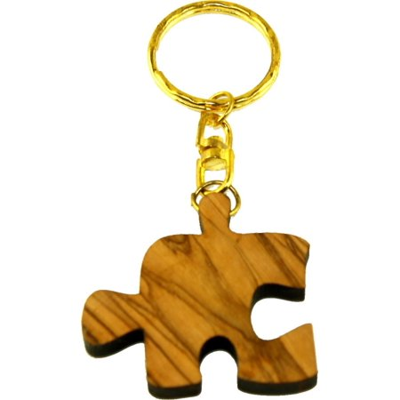 Olive Family Wood (Puzzle Olive wood Keys Chain or ring - Family, Friends or Lovers forever symbol (1) )