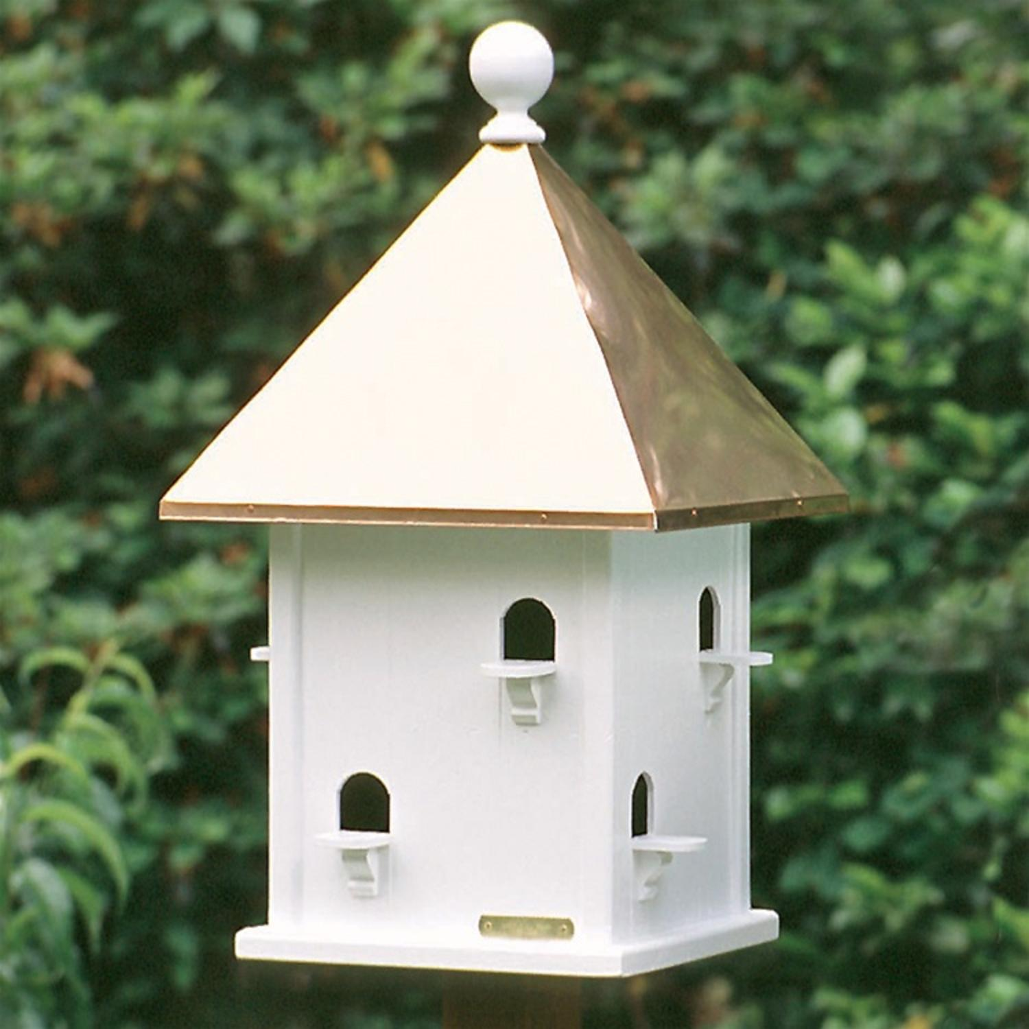 "26"" Outdoor Enchanted Polished Copper Deluxe Garden Birdhouse"