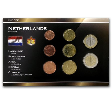 (1999-2005 Netherlands 1 Cent-2 Euro Coin Set BU)