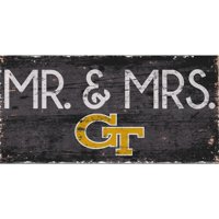 Georgia Tech Yellow Jackets 6'' x 12'' Mr. & Mrs. Sign