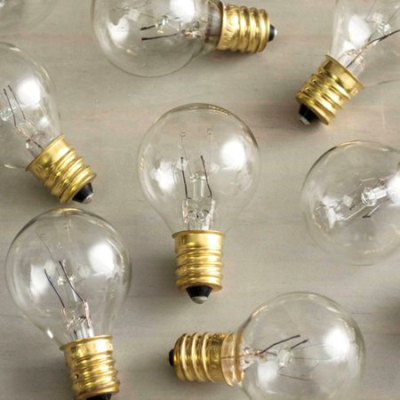 Replacement Bulbs Replacement Globe Light Bulb G30 5W/130V E12 Base Clear 25 Pack E12 Base Clear Globe Decor