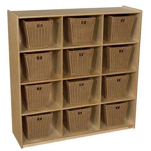 Wood Designs 12 Compartment Cubby With Bins Walmart Com Walmart Com