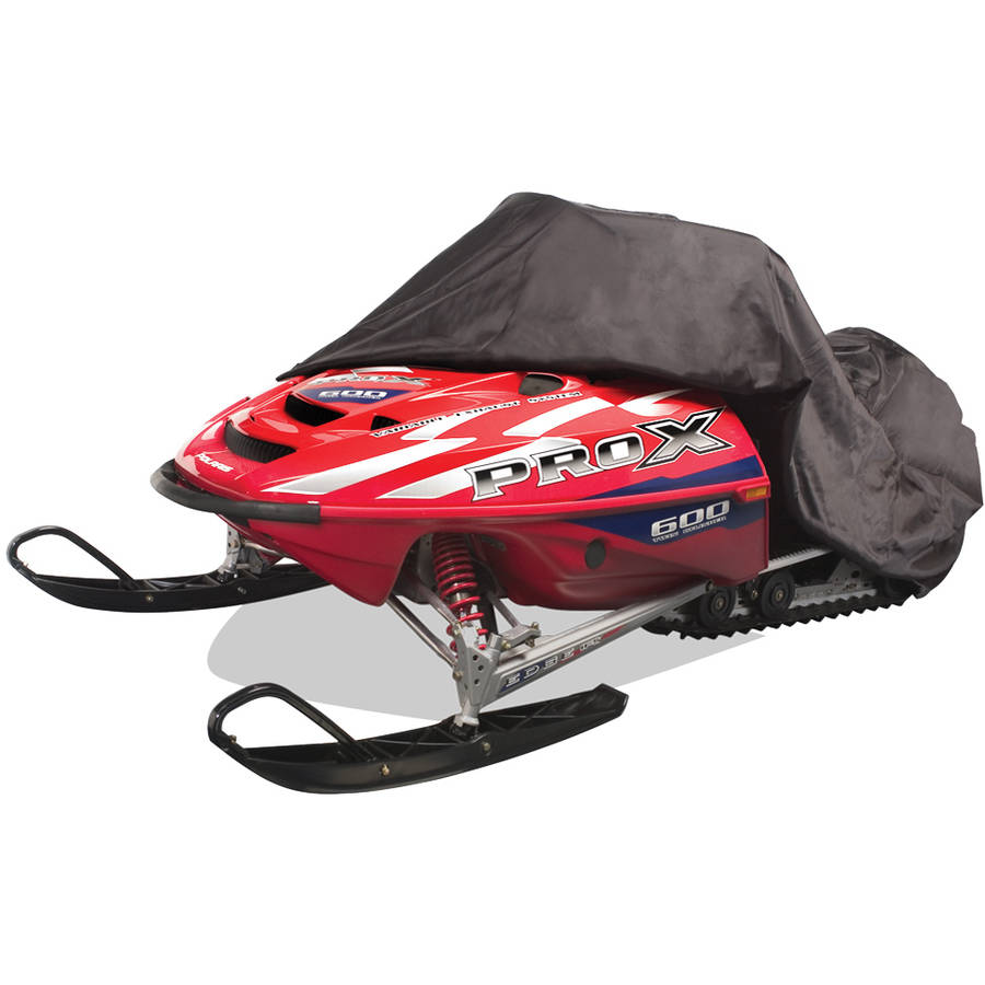 Budge Trailerable Snowmobile Cover, Waterproof, Black Polyester