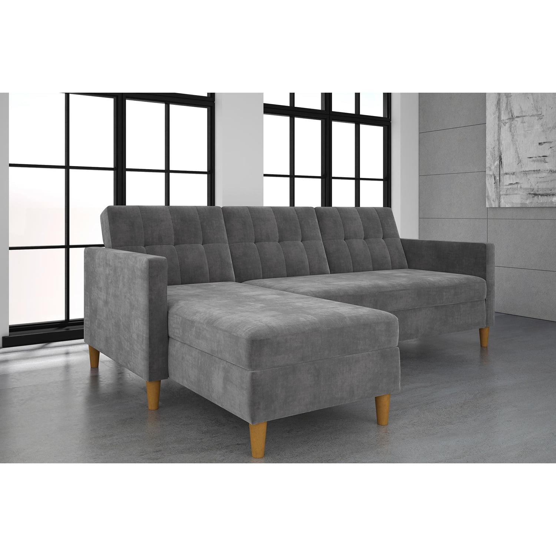 Superb Dhp Hartford Storage Sectional Futon And Hartford Storage Ottoman Multiple Colors Lamtechconsult Wood Chair Design Ideas Lamtechconsultcom