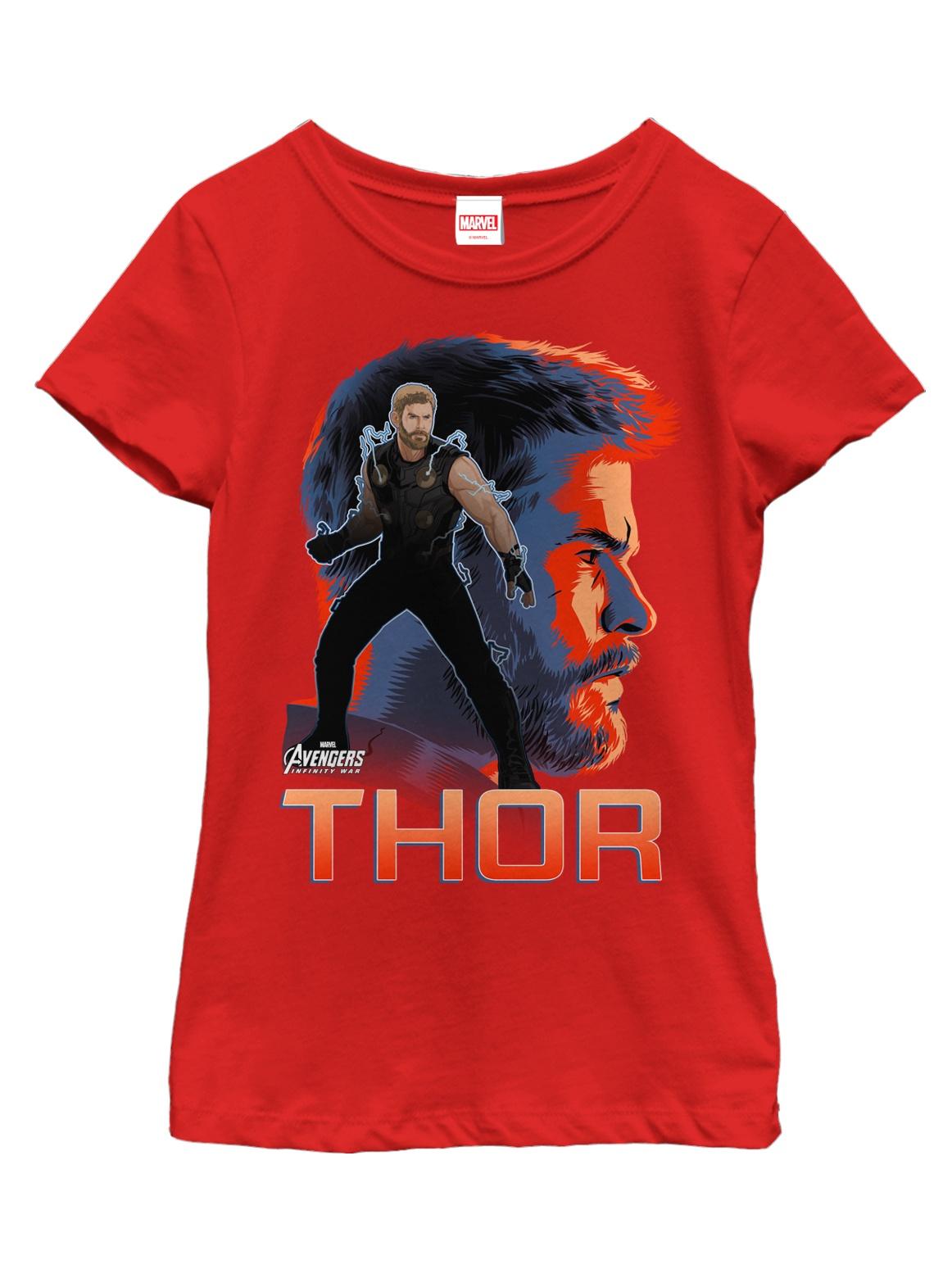Marvel Girls' Avengers: Infinity War Thor View T-Shirt