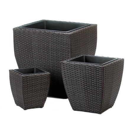 BSD National Supplies Hillsdale Wicker Plant Holders - Set of 3 ()