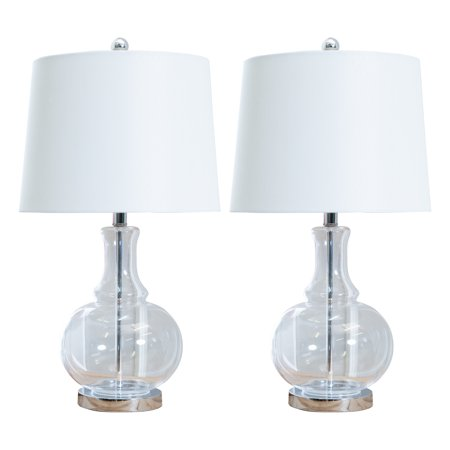 Devon and Claire Arroyo Glass Table Lamp, Set of 2 ()