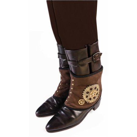 Adults Steampunk Industrial Age Robot Cowboy Spats Costume Accessory