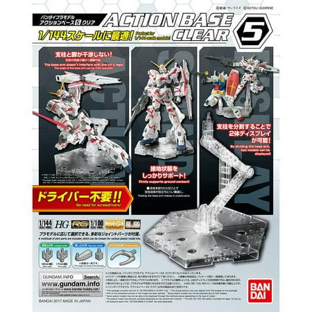 Bandai Hobby Gundam Action Base 5 Clear Gunpla 1/144 Scale Display Stand (Diorama Display Base)