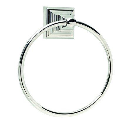 Markham 6-7/8 in (175 mm) Length Towel Ring in Polished - Vibrant Polished Nickel