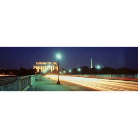 Night Lincoln Memorial District Of Columbia USA Poster Print](District Halloween Lincoln)
