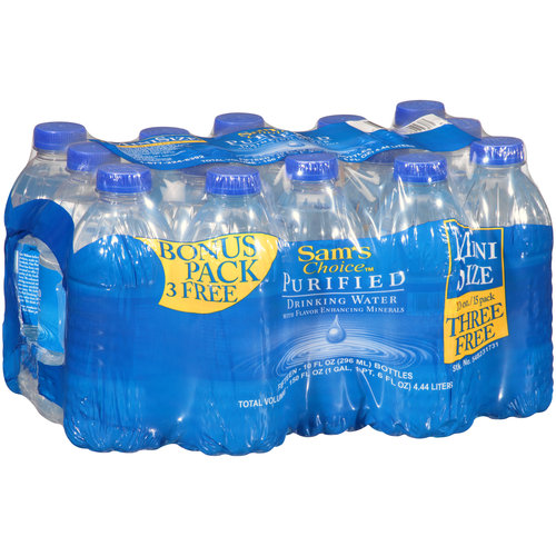 Sam's Choice Mini Size Purified Drinking Water, 12 Ct/10 Fl Oz