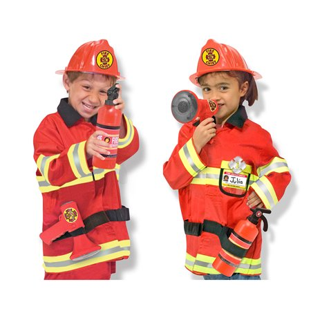 Master Chief Costum (Melissa & Doug Fire Chief Role Play Costume Dress-Up)