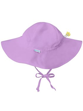 Iplay Brim Sun Hat for Toddler Girls Sun Protection Wide Brimmed Hat-Solid Purple 2-4 Years (2T-4T) Baby Girl Hat Is Adjustable To Fit Outdoor Hat With Chin Strap Pool Beach Fashion Cute Swim