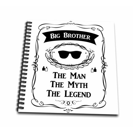 3dRose Big Brother - The Man The Myth The Legend older bro elder sibling gift - Mini Notepad, 4 by