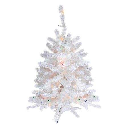 Pre Lit Tabletop Christmas Tree - Snow White - Darice 1.5 Ft. Pre Lit Tabletop Christmas Tree - Snow White