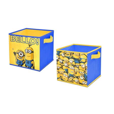 MINIONS 2 PACK COLLAPSIBLE STORAGE - Minion Valentine Box