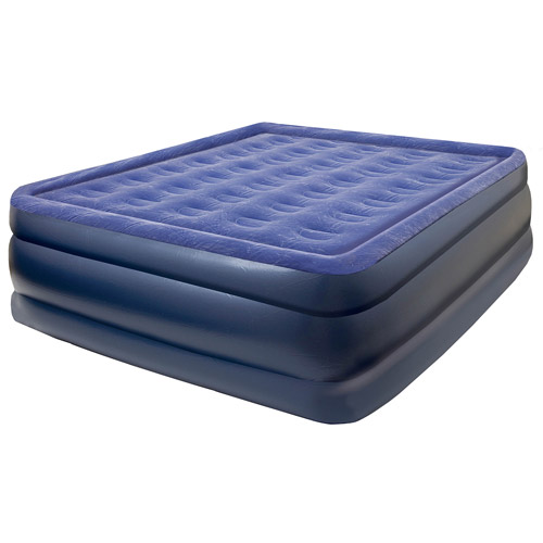 Pure Comfort Raised Flock Top Air Mattress, Queen
