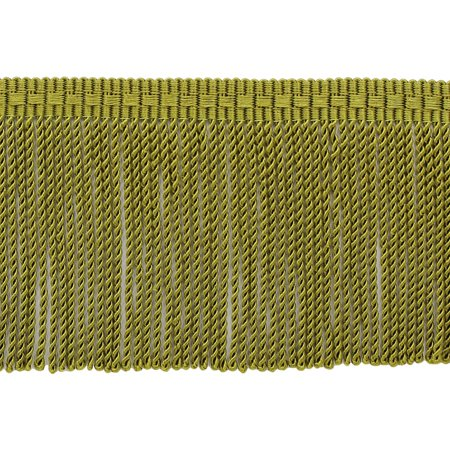 Olive Green Colour - 3 Inch long Olive Green Thin Bullion Fringe Trim, Style# BFTC3 Color: 9628, Sold By the Yard