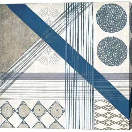 Metaverse C950465-0120000-AAAACMA Folk Patchwork II by Edward Selkirk Canvas Wall Art - 12 x 12 in. - Folk Art Halloween Quilts