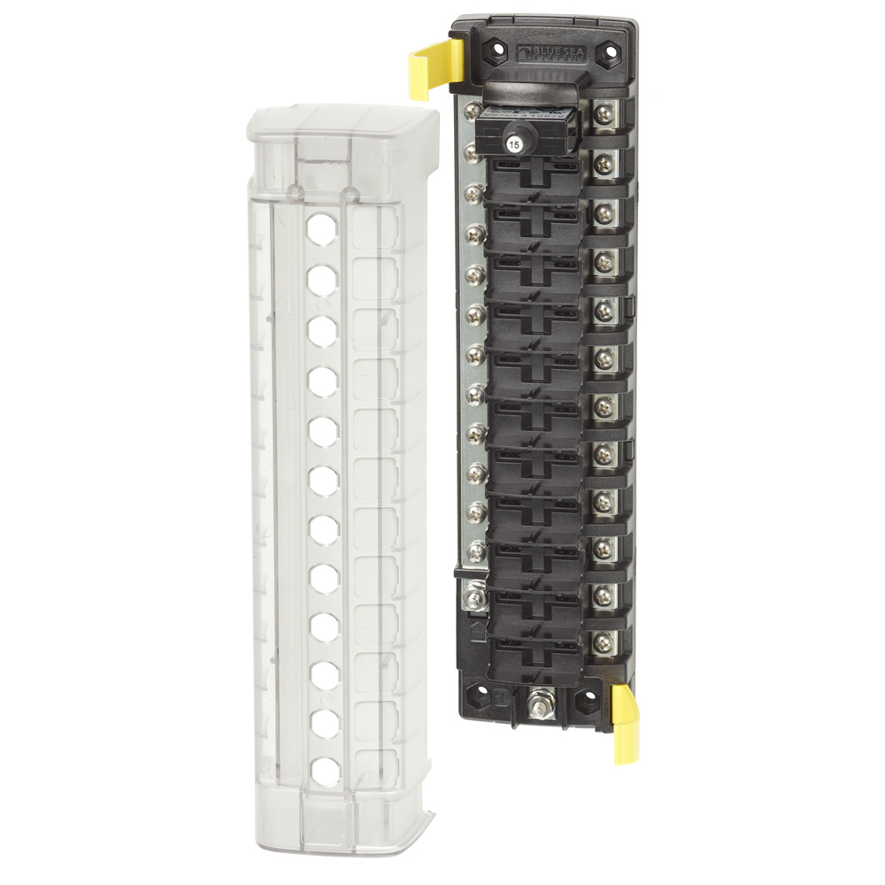 Blue Sea Systems 5054 ST CLB 12-Position Circuit Breaker Block with Negative Bus