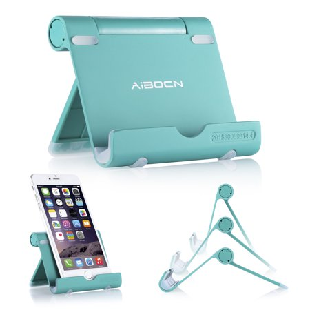 Aibocn Universal Portable Aluminum Stand Holder Mini Retina Nexus Desktop Phone Stand for iPhone Galaxy iPad Tablet (Spider Monkey Ipad Holder)