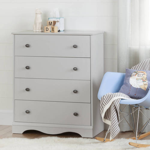 South Shore Angel 4-Drawer Dresser, Multiple Finishes