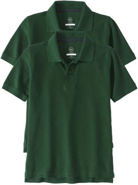313b20b2689d Product Image Wonder Nation School Uniform Short Sleeve Double Pique Polo, 2 -Pack Value Bundle (