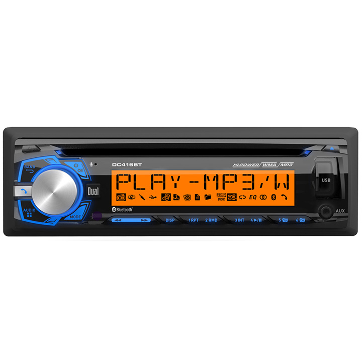 Dual DC416BT Cd Player Bt W/internal Mic. Remote Multi Color Display Usb W/1 Amp Charging 50x4 Power
