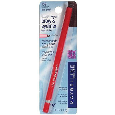 Maybelline Expert Wear Brow & Eyeliner Pencil, Dark (Best Natural Organic Eyeliner)