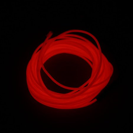 5M Flexible Neon Light Glow EL Wire Rope Tape Cable Strip LED Neon Lights Shoes Clothing Car waterproof LED Strip