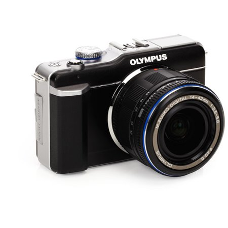Olympus PEN E-PL1 12.3MP Live MOS Micro Four Thirds Mirrorless Digital Camera with 14-42mm f/3.5-5.6 Zuiko Digital Zoom Lens (Black)