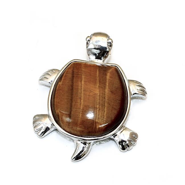 88 Imports SP0049 Turtle Pendant - Tiger Eye